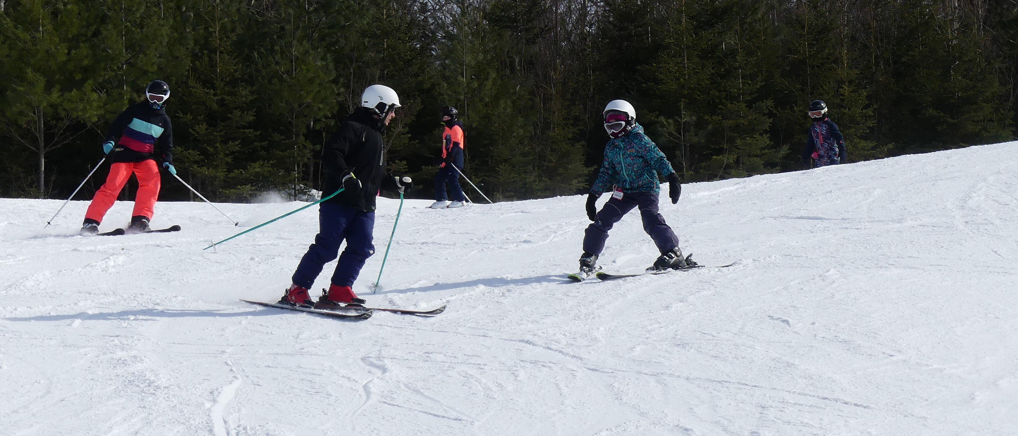 Ski alpin au centre de ski Saint-Georges
